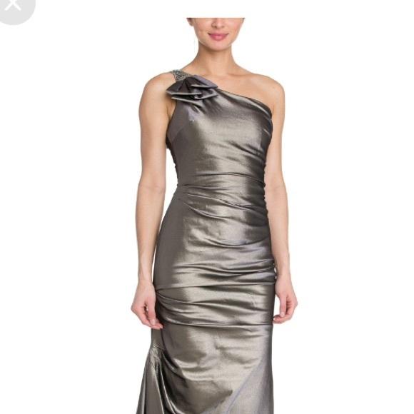 Dresses | Teri Jon By Rickie Freeman One Shoulder Gown | Poshmark