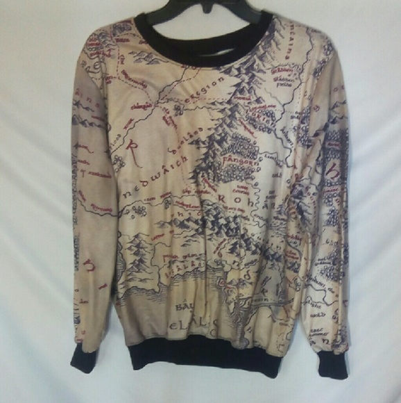Sweaters | Lord Of The Rings Map Sweatshirt | Poshmark