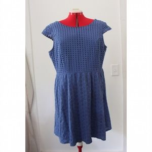 Blue Eyelet Lace Dress