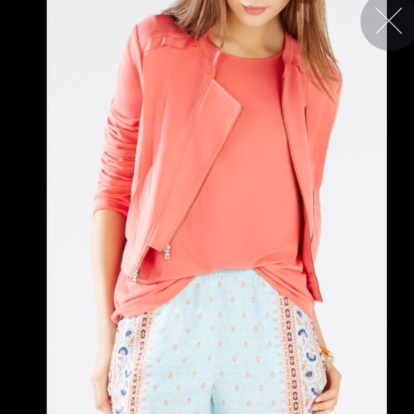 67% off BCBG Jackets & Blazers - BCBG Salmon Pink Jacket from ...