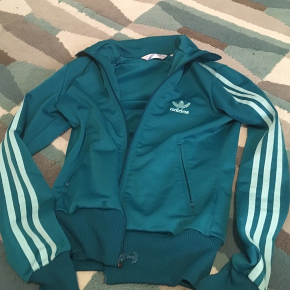 Activewear Men's Clothing Adidas Purple And Turquoise Three Stripe Shell Tracksuit Jacket Limited Edition