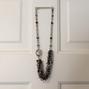 """21"""" necklace black, gold and silver"""