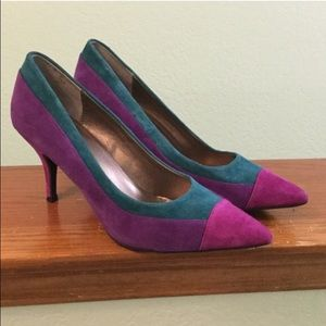 Amazing purple and teal heels. Size 9.5