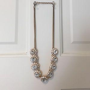 "17"" necklace with rhinestones"