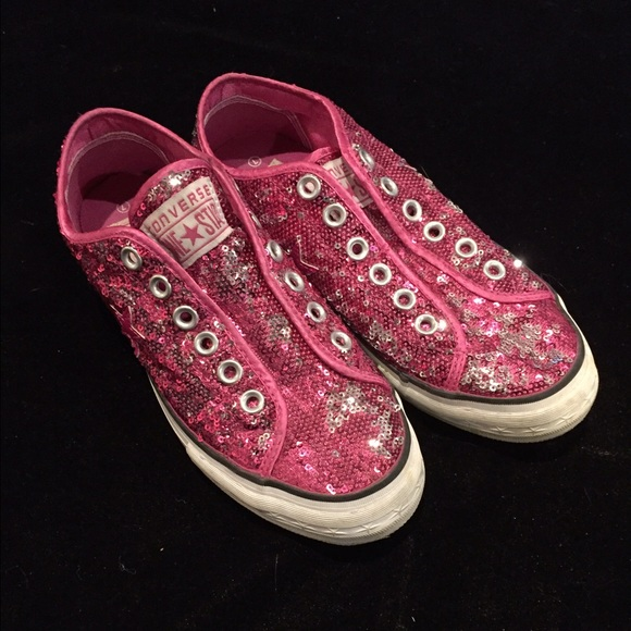 b2033163cb79 Converse One Star Shoes - Converse One Star Sparkle Sneaks