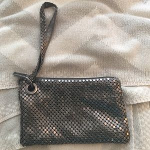 Handbags - Iridescent silver/chrome wristlet