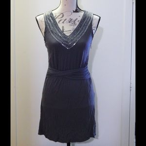 Banana Republic Gray Sequin Dress Sz 2P
