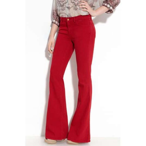 75% off Miss Sixty Denim - Miss Sixty Red Flare Jeans from E's ...