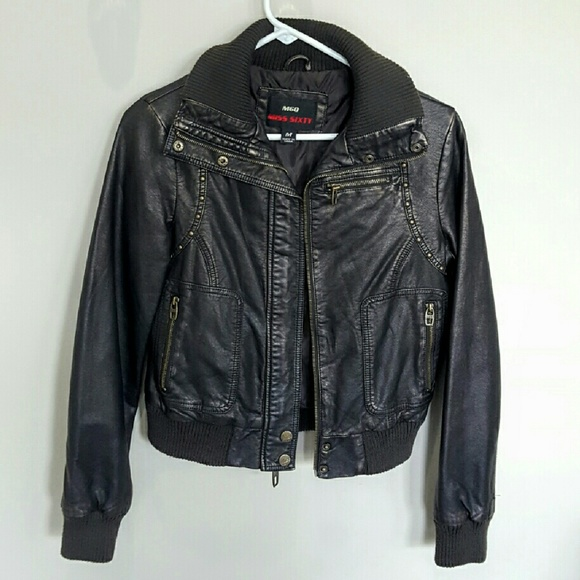 Miss Sixty faux brown leather jacket