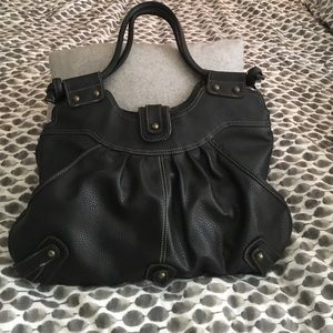 Black Slouchy Tote