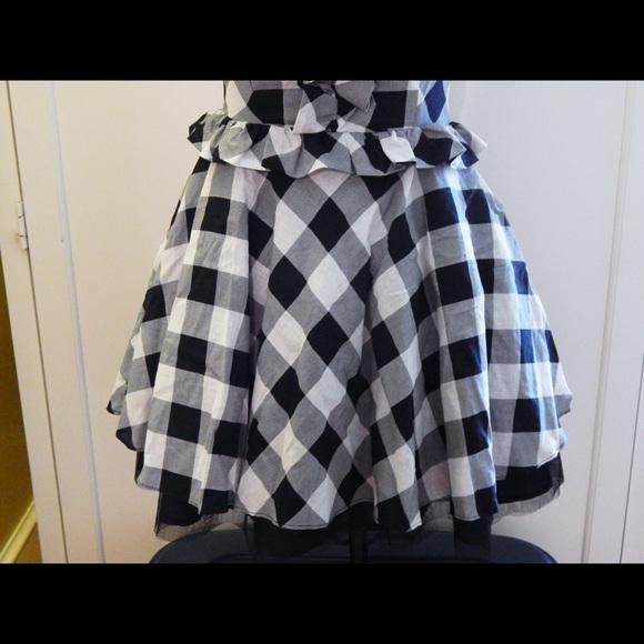 Forever 21 Dresses - Forever 21 Black & White Gingham Dress SZ M NWOT