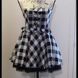 Forever 21 Black & White Gingham Dress SZ M NWOT