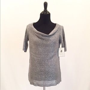 Jaclyn Smith Sweaters - NWT Jaclyn Smith Holiday Silver Sweater