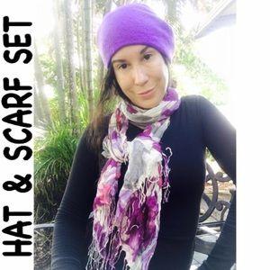 Accessories - ❤️Fleece purple hat/collar plus scarf