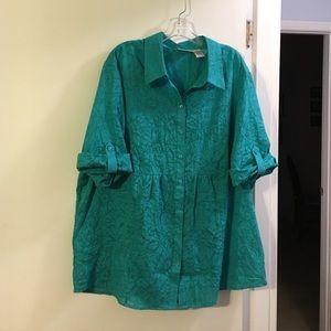 apparenza Tops - Apparenza teal blouse