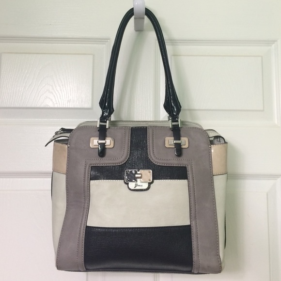 Guess Bags | Large Purse In Grey Black And