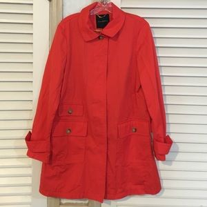 Talbots orange trench coat