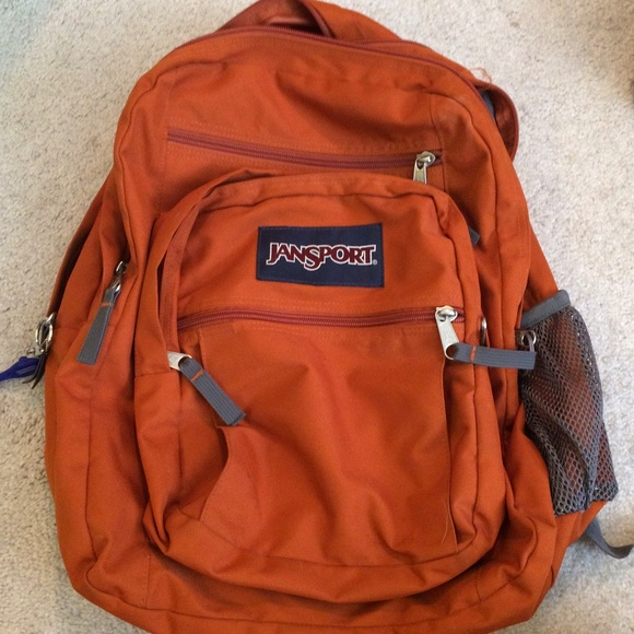 82% off Jansport Handbags - Jansport Dark Orange Backpack from ...