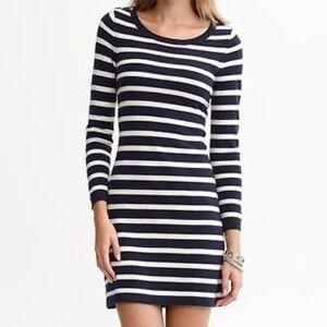 Banana Republic Striped Sweater Dress
