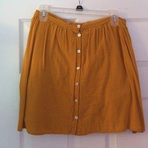 High waisted trendy skirt