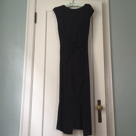 NWT H&M Europe black boatneck knit dress, size 8