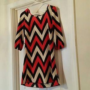 Boutique chevron dress size S