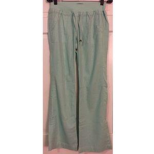 Sea foam green Linen Pants