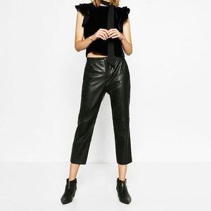 Zara faux trousers