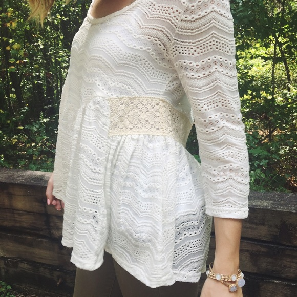 Anthropologie Tops - Perfect Lace Peplum