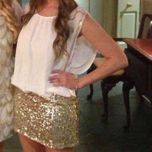 Boutique Gold Sequin Dress