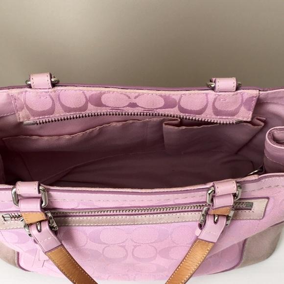 67 off coach handbags coach light pink signature