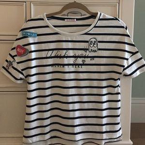 Alcott Tops - Black and white stripe t-shit