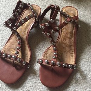 Sam Edelman gladiator sandals with silver studs