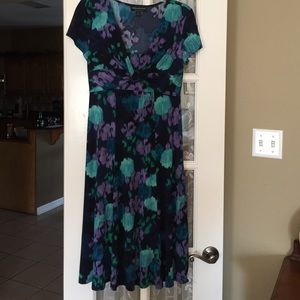 Dress with Blues, Greens, & Purples