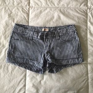 Blue Pinstripe Shorts
