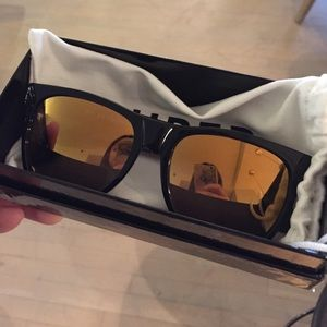RetroSuperFuture Accessories - NWT Super by Retrosuperfuture Black 24K Sunglasses