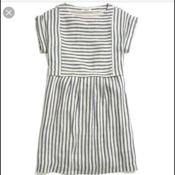 Madewell Dresses   Skirts - MADEWELL striped linen dress