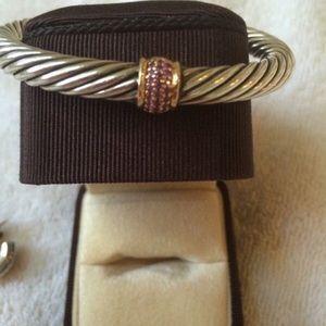 David Yurman Jewelry - David Yurman Pink Sapphire Bracelet , 7MM Cable