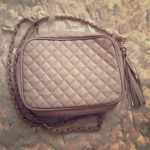 Quilted Nude CrossBody Bag