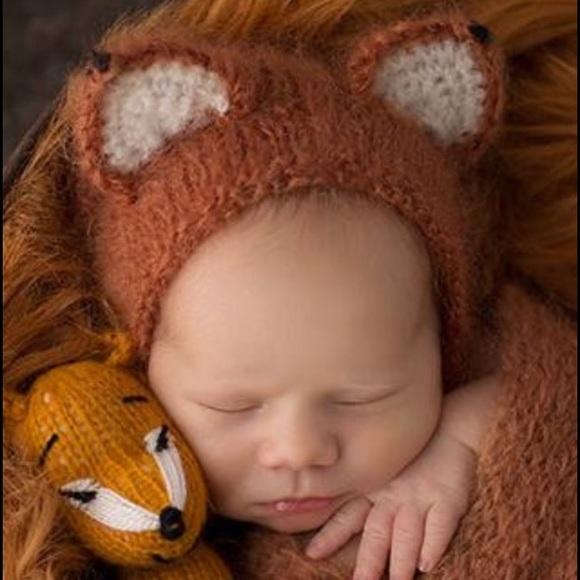 262fbcf2a Handmade Baby Photo Prop Hat New Fox Ears