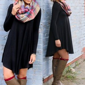 PERFECT FALL🍁Black Loose Flowy Dress Tunic🍁