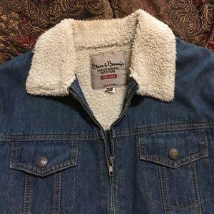 Jackets & Blazers - Jean jacket w/ fur