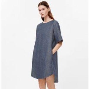 COS Dresses & Skirts - COS shift dress - speckled denim - worn twice