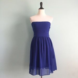 Cobalt Strapless Dress