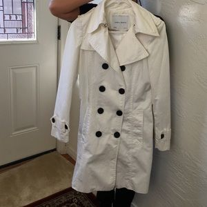 Zara Jackets & Blazers - Zara Basic! White trench coat! Size Xs!