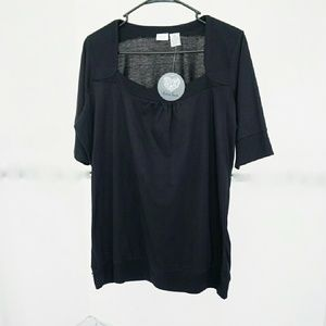Extra Touch Tops - NWT Black Top