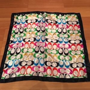 Coach Accessories - Authentic silk Coach scarf