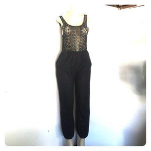 Topshop Pants - NWT Topshop black mesh jumpsuit