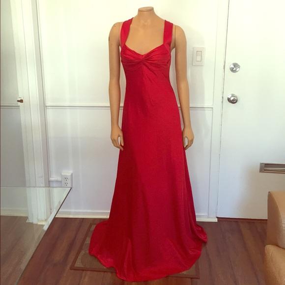 Calvin Klein Collection Dresses   Calvin Klein Cross Back Satin ...