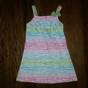 Komar Kids Other - Multicolored Zebra Print Pajama Dress Gown